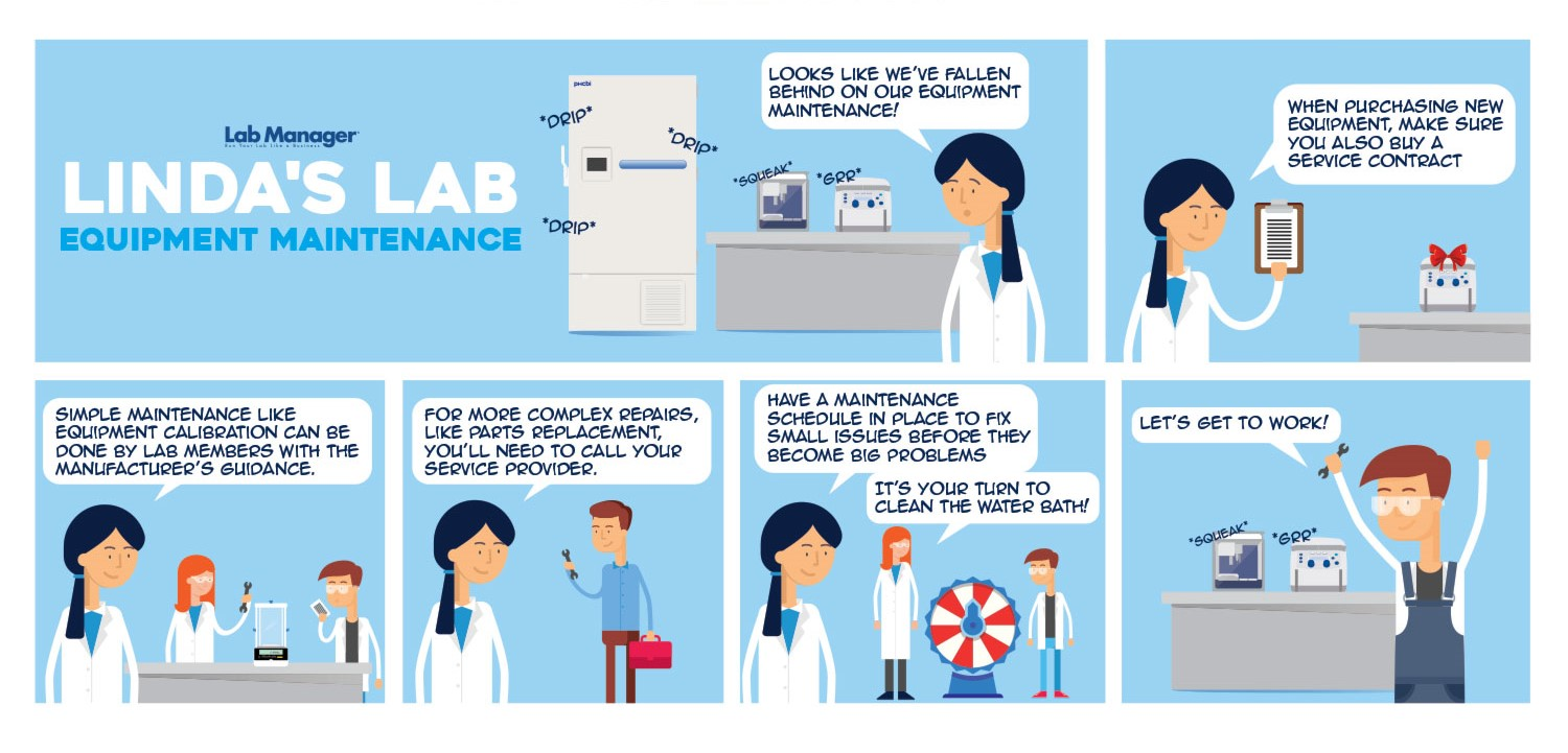 Laboratory Equipment Maintenance Tips (Comic)