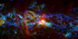 New Space Image Reveals Cosmic 'Candy Cane'