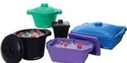 New PolarSafe® EVA Ice Buckets and Pans Provide Mess-Free Benchtop Cryogenic Chilling