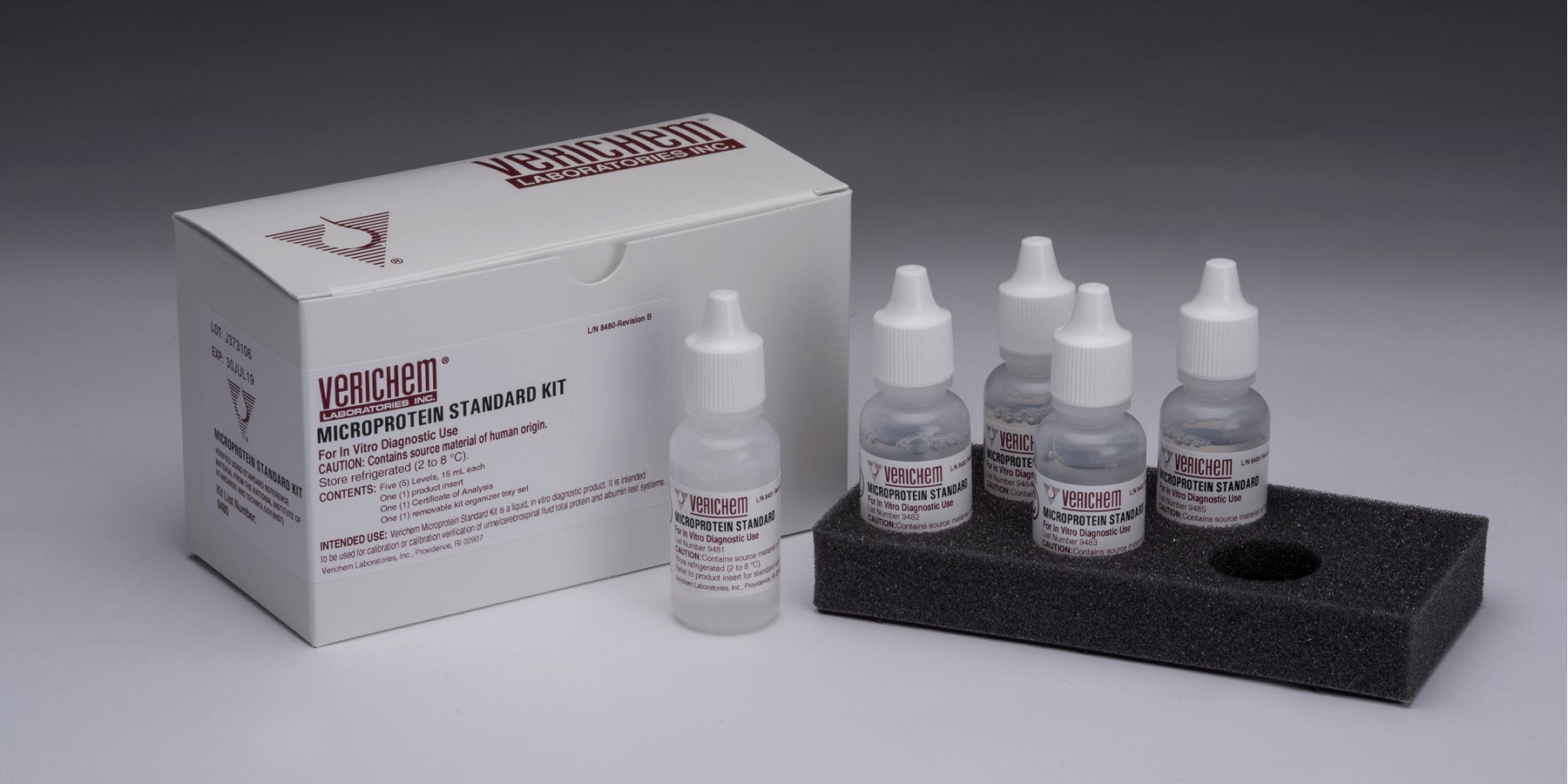 Liquid Stable and Ready to Use Microprotein Standard Kit Offered from Verichem Laboratories