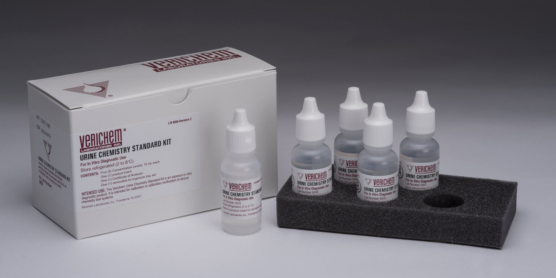 Verichem Laboratories Offers Multi-Analyte, Bio-Synthetic, NIST Traceable, Urine Chemistries Standards Kit