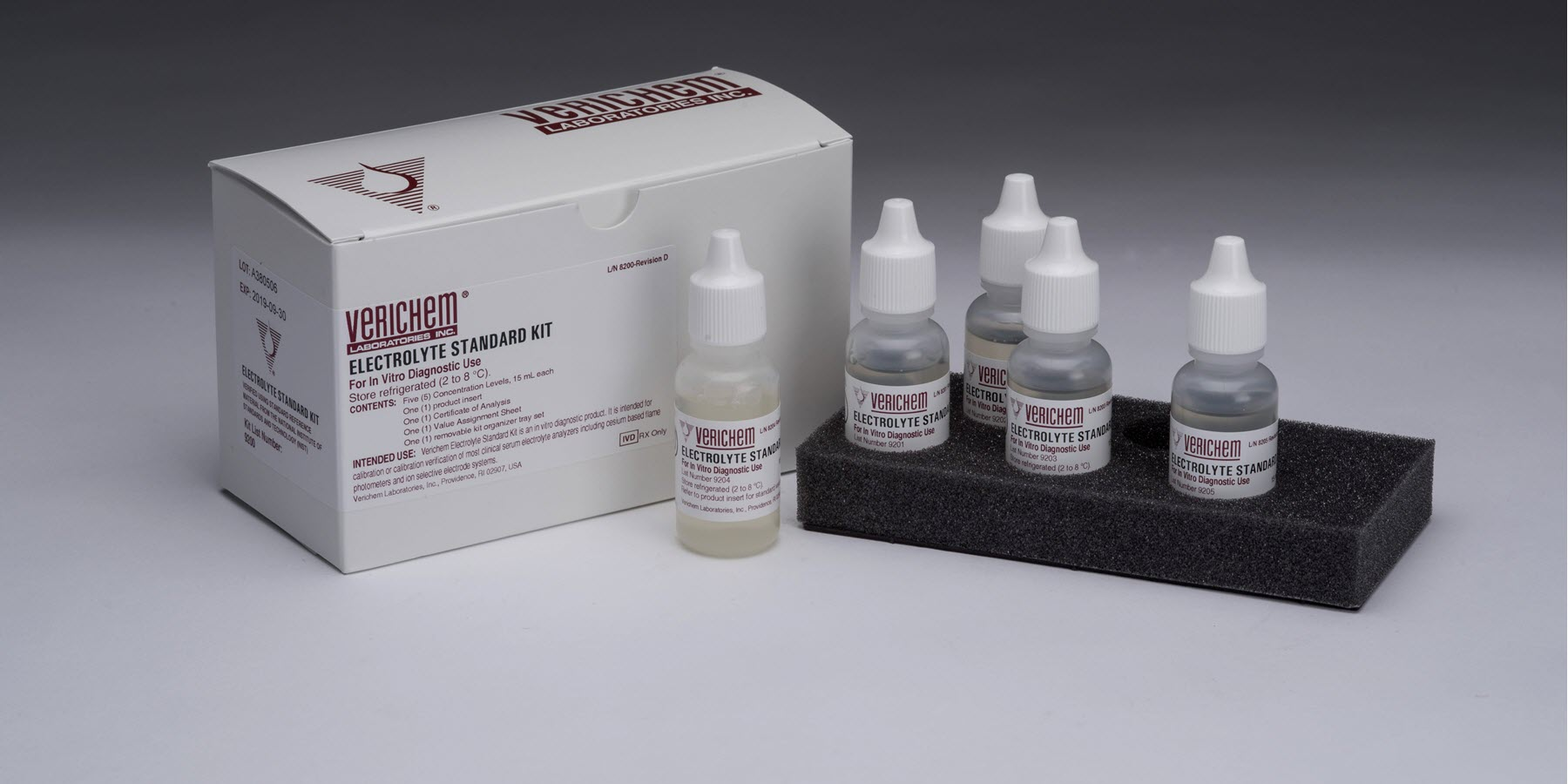Verichem Laboratories Offers Liquid Stable, Ready-to-Use, Multi-Analyte Electrolyte Standard Kit