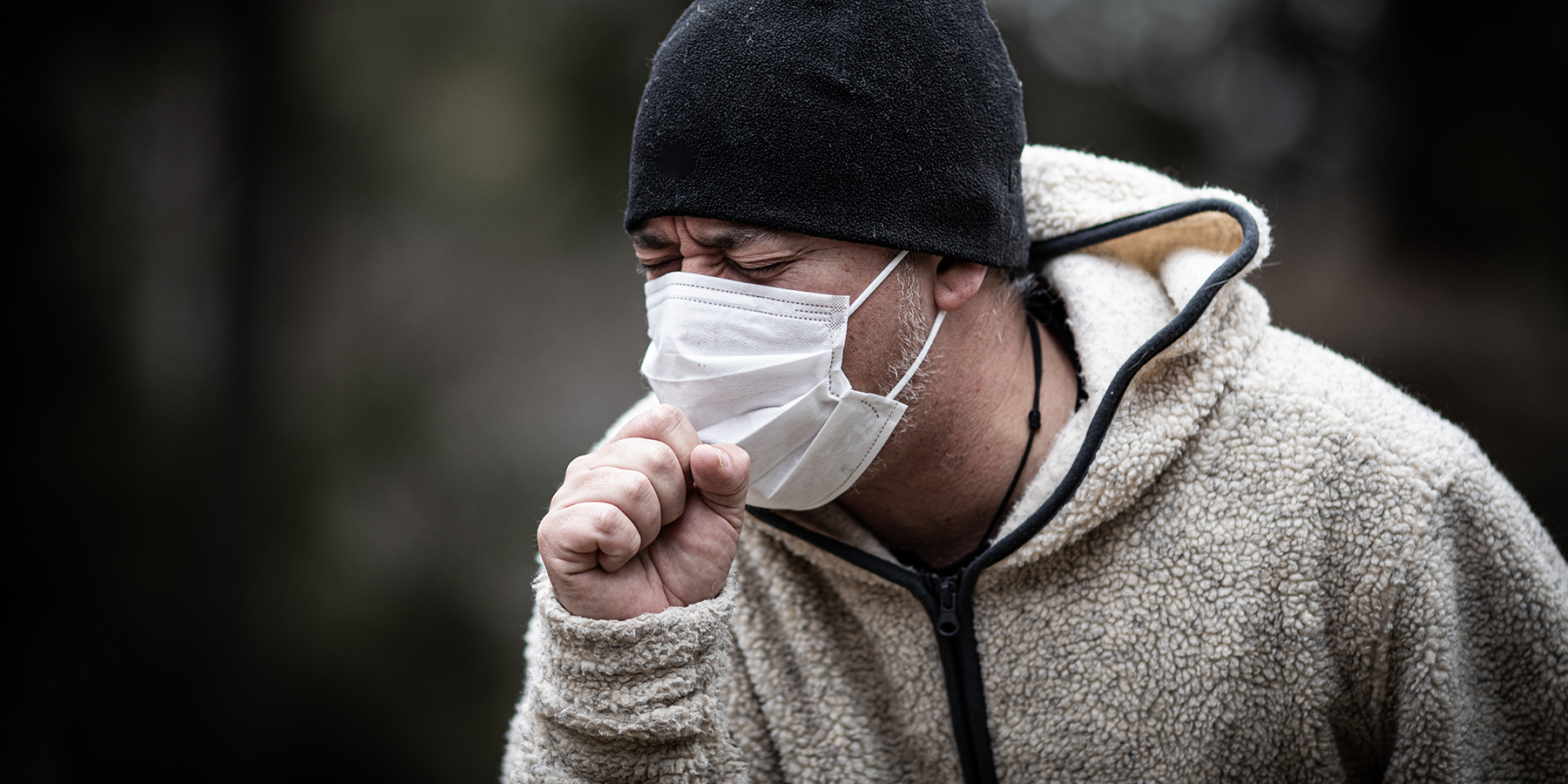 Effectiveness of Different Face Mask Materials When Coughing