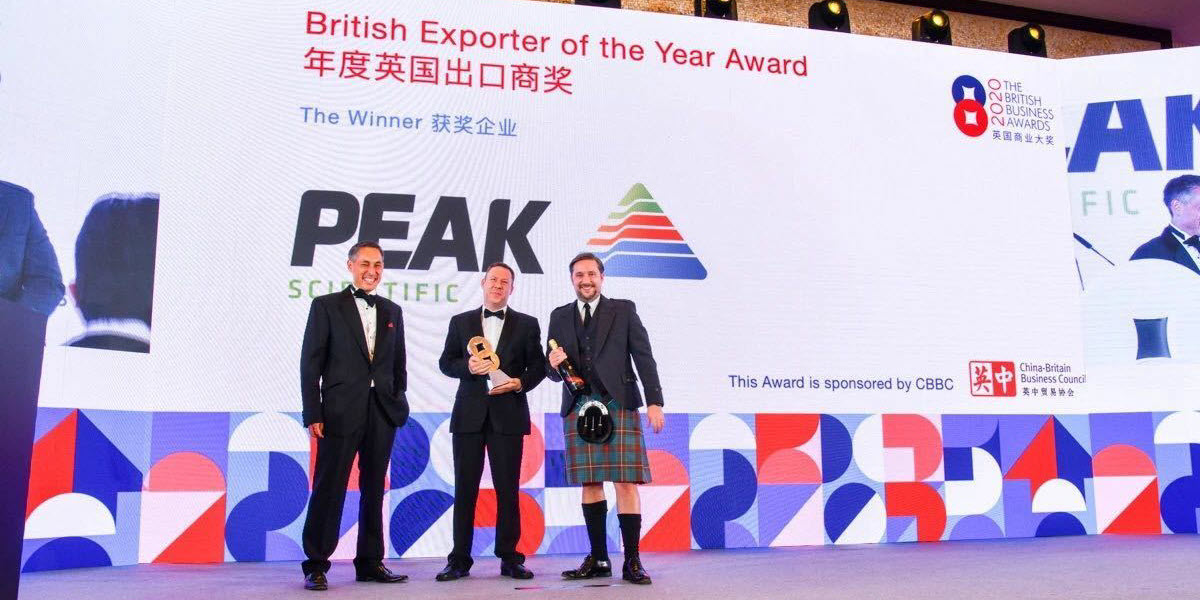 Peak Scientific wins British Exporter of the Year Award