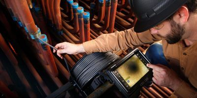Efficiently Inspect Complex Piping Systems with the Olympus IPLEX™ GAir Long Videoscope