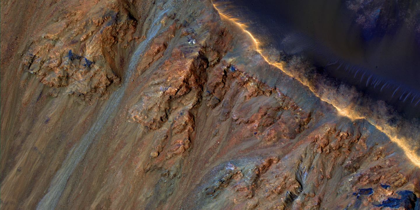 What Causes Landslides on Mars?