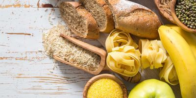 Image of carbohydrate heavy foods such as bread and pasta