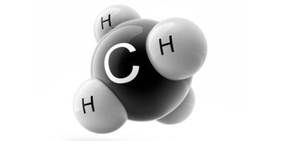 graphic image of the molecule methane