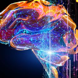 Intelligence Emerging from Random Polymer Networks