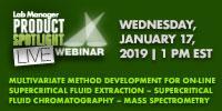 Multivariate Method Development for On-Line Supercritical Fluid Extraction – Supercritical Fluid Chromatography – Mass Spectrometry