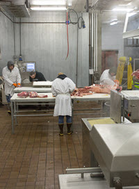 The University of Wyoming's Meat Lab student workers